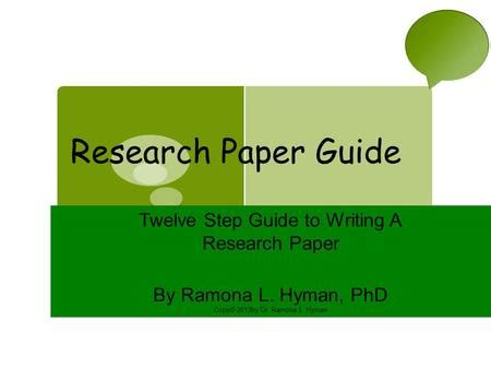 Steps involved in preparing research paper